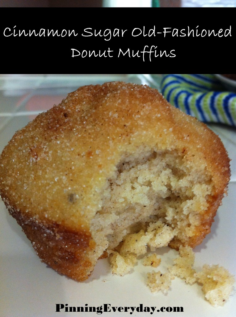 ... donuts…or muffins? How about some Cinnamon-Sugar Old Fashioned Donut