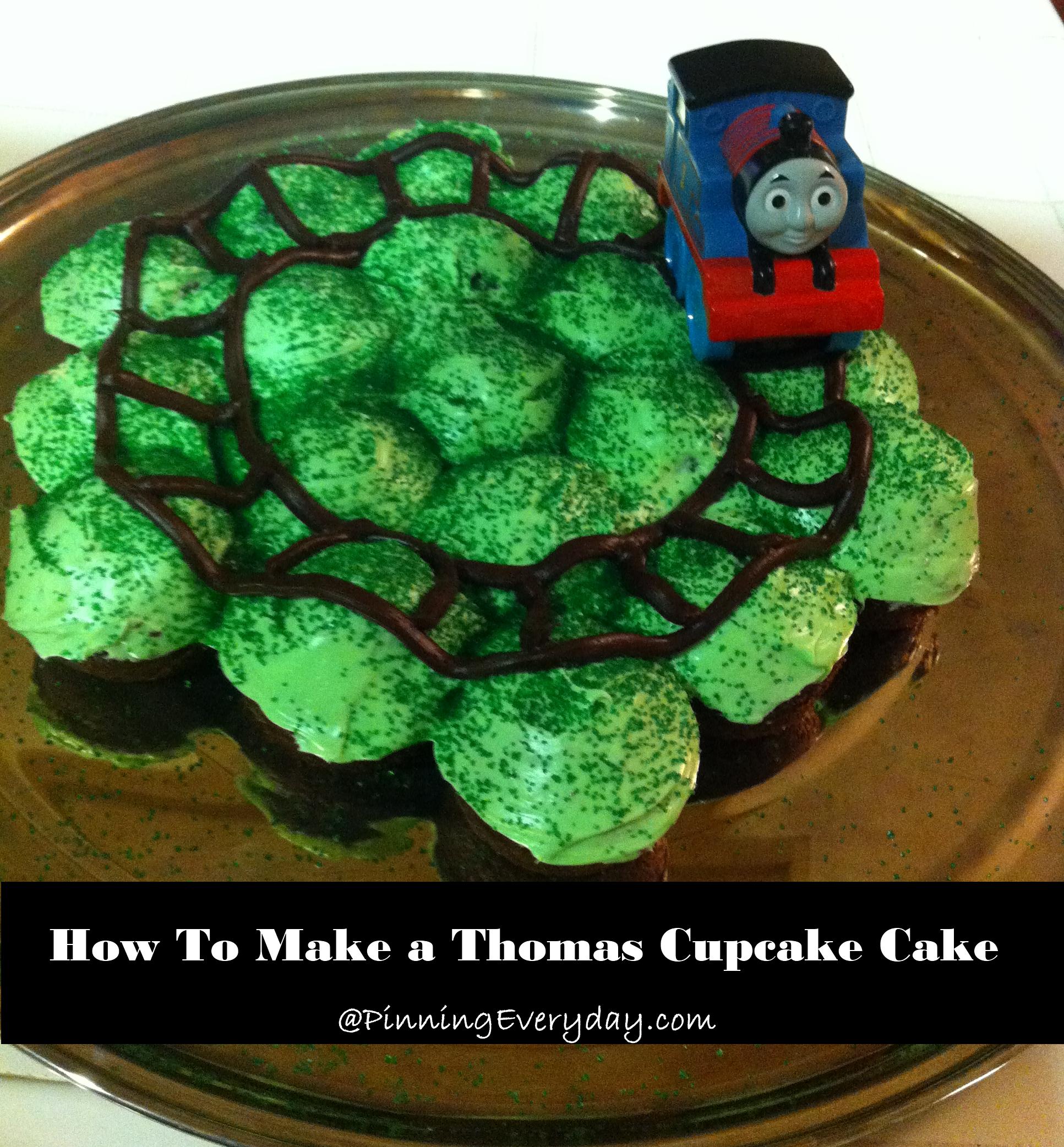 Thomas Cupcake Cake