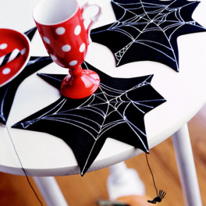 creepy spiderweb coasters