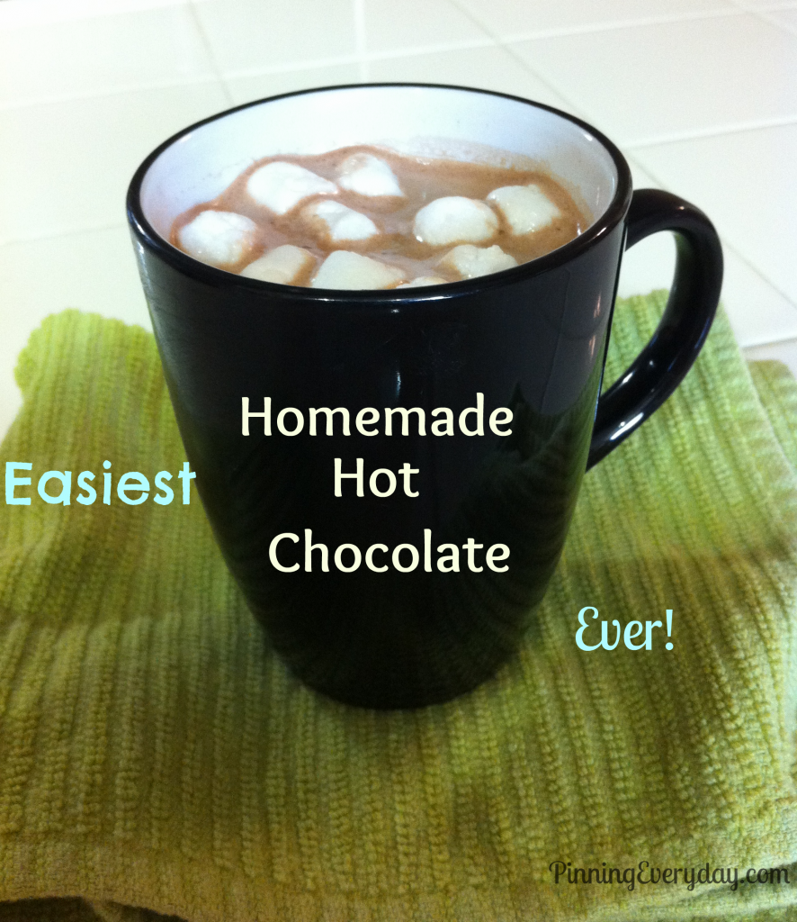 Easy Homemade Hot Chocolate Recipe - Pinning Everyday