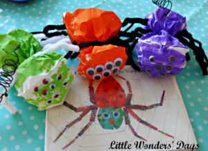 lunch bag spider craft