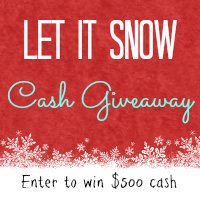 Let It Snow Cash Christmas Giveaway